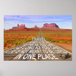 Poster de viagens do vale do monumento