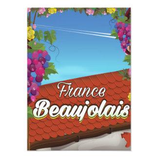 Poster de viagens do vinho de France do Beaujolais Impressão De Foto