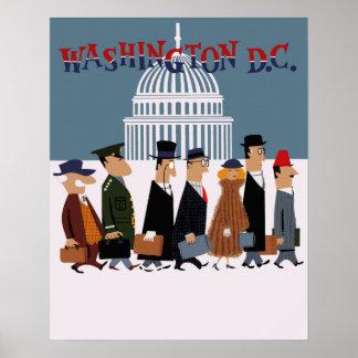 Poster de viagens do Washington DC