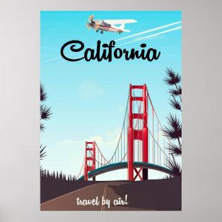 Poster de viagens dos desenhos animados de