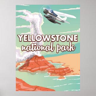 Poster de viagens dos desenhos animados do parque