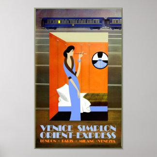 Poster de viagens expresso de oriente