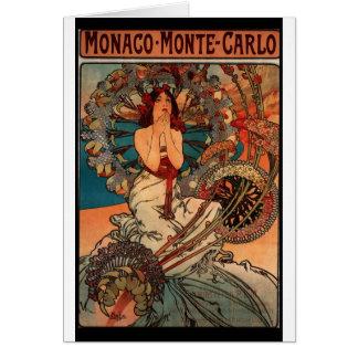 Poster de viagens francês de Nouveau da arte Cartão Comemorativo