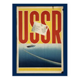 Poster de viagens histórico de URSS do vintage Cartão Postal