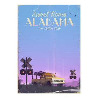 """Poster de viagens """"home"""" doce de Alabama"""