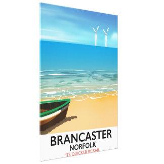 Poster de viagens Railway da praia de Brancaster
