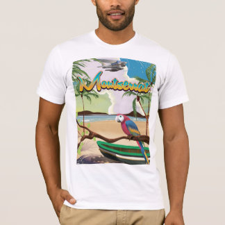 Poster de viagens retro da ilha de Montserrat Camiseta