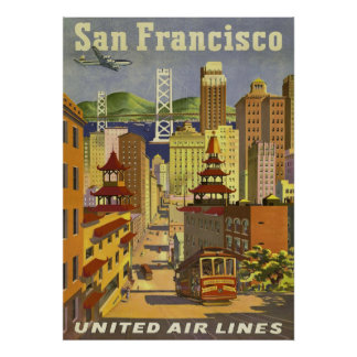 poster de viagens, San Francisco