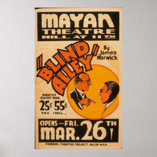 Poster de WPA do beco cego das artes de palco do