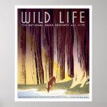 Poster de WPA dos animais selvagens (cervos)