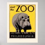 Poster de WPA para o jardim zoológico de Philadelp