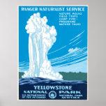 Poster de WPA para o parque nacional de Yellowston