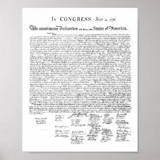 Pôster Declaração de independência