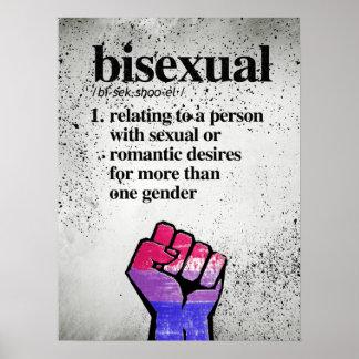 Pôster Definição bissexual - termos definidos de LGBTQ -