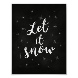 Pôster Deixais lhe para nevar; Decoração do Natal
