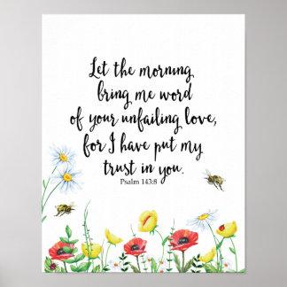 Poster Deixe a manhã trazer-me a palavra do seu infalível