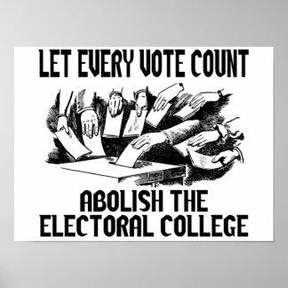 Poster Deixe cada contagem do voto