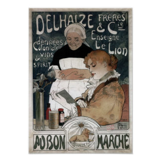 Poster Delhaize Freres & biscoitos Vins do Cie & espírito