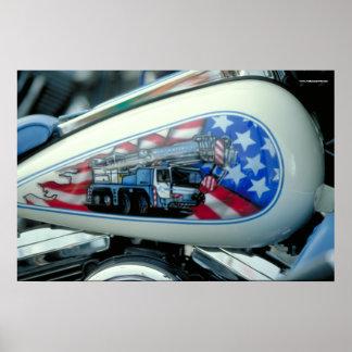 Pôster Depósito de gasolina de Harley - S.D.