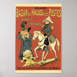Poster DES grande Halles da feira da propaganda francesa