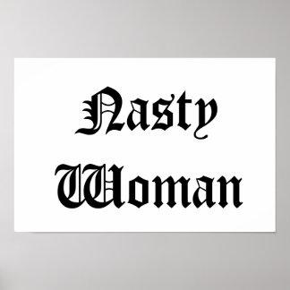 Poster desagradável da mulher