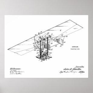 Psteres e impresses avio zazzle pster desenho 1912 da arte da patente do avio da ccuart Gallery