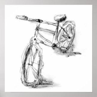 Poster Desenho artístico bonito da bicicleta