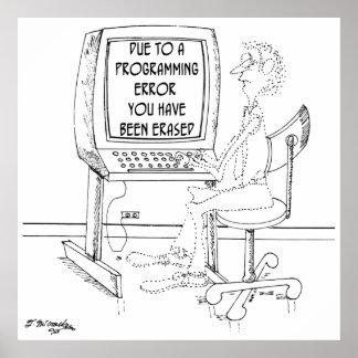 Pôster Desenhos animados 1164 do computador