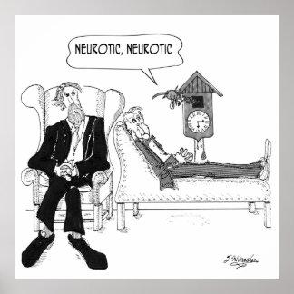 Poster Desenhos animados 2199 do psiquiatra