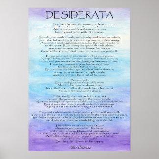 Poster Desiderata