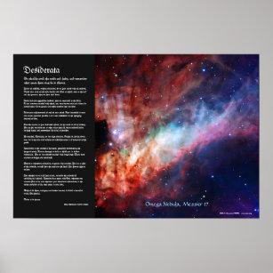 966100c109c Pôster Desiderata - nebulosa de Omega
