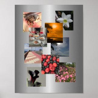 Pôster Design da imagem da colagem da foto