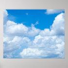 Poster Design do céu dos céus do fundo das nuvens do céu