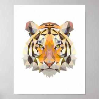 Pôster Design geométrico nórdico do tigre
