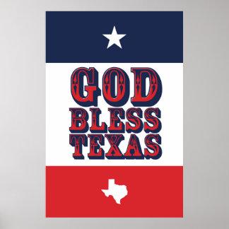 Pôster Deus abençoe Texas