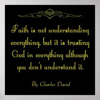 Pôster Deus da confiança