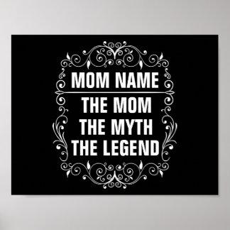 Pôster Dia das mães feliz da mamã