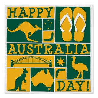 Pôster Dia de Austrália