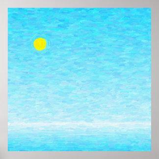 Pôster Dia de sol em alto mar