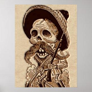 Pôster Dia do morto - Diâmetro de Los Muetos