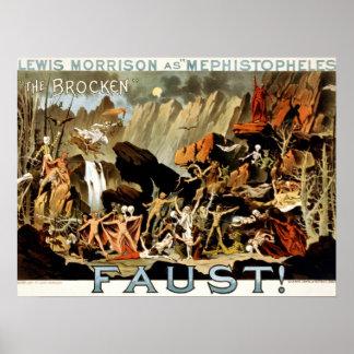Poster Diabos e Faust