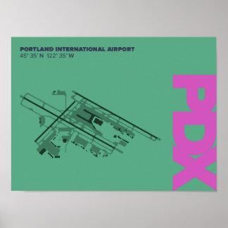 Pôster Diagrama do aeroporto de Portland (PDX)