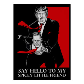 Pôster Diga olá! a meu poster pequeno do amigo de Spicey