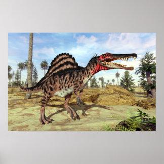 Pôster Dinossauro cretáceo de Spinosaurus