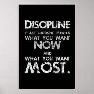 Pôster Disciplina