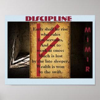 Poster Disciplina de Havamal