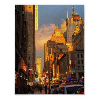 Pôster Distrito do teatro de Broadway do Midtown de NYC