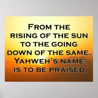 Poster do 113:3 do salmo