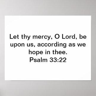 Poster do 33:22 do salmo