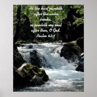 Poster do 42:1 do salmo pôster